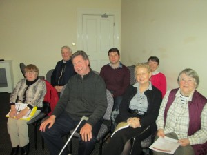 All Smiles:- Club members attending the first meeting of 2014