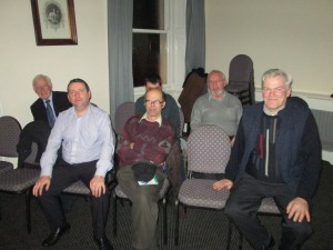Some members of Fermoy Toastmasters taking part in the first meeting of 2014.