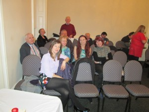 """""""Relaxing after the meeting"""" Fermoy Toastmasters and visitors from Mallow and Mitchelstown clubs enjoy an easy, convival atmospher after the contest on March 10th 2015"""