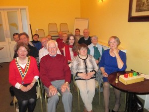 Club members at the March 24th meeting with Peggy O'Donoghue (right)  who was timekeeper on the night.