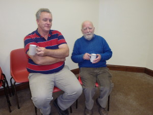 Stephen Pendle and Peter Langley (Galtee Toastmasters Mitchelstown) who were guest judges on the night enjoying a well earned cuppa.