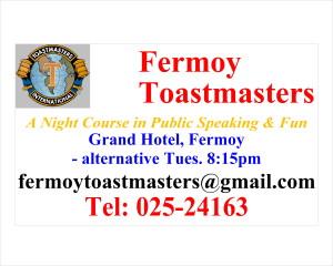 Fermoy Toast. Roadsign No. 1