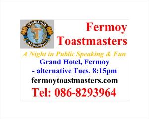Fermoy Toast. Roadsign No. 3 - Frank