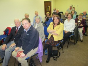Smiles all round in the audience at the October 2015 Area Humorous Speech and Table Topics contest. On the extreme right we see our Area Governor Johanna Hegarty wearing the chain of office. Everyone was ever so pleased that the event had gone off so well this year hosted by the Fermoy Club.
