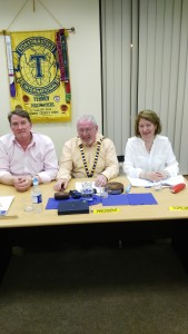 Club President John Sherlock presides over the penultimate meeting of the 2015-16 Fermoy Toastmasters Season at the local Youth Centre on the evening of May 3rd 2016, with Toastmaster Tim Fitzgerald (left) making his very impressive debut in the art of chairmanship while Mary Whelan stands ready to present an ever engaging, eclectic and hugley enjoyable selection of themes and challenges to the meeting in her role as Topicsmaster.