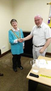 Outgoing President John Sherlock congratulated his successor, Eilish Ui Bhriain, who assumes the chain of office for the coming season of 2016-17 with the warm support and heartfelt good wishes of us all.